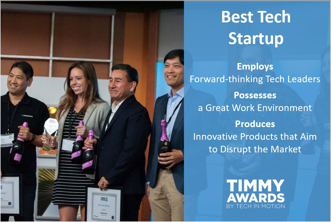 Timmy Awards Best Tech Startup