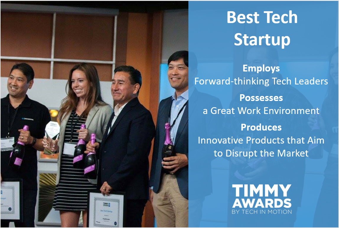 Timmy Awards Best Tech Startup