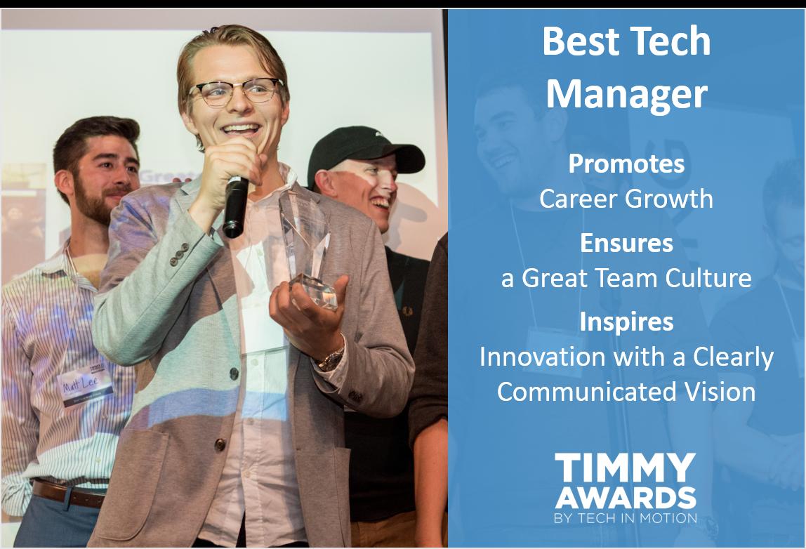 Timmy Award Best Tech Manager