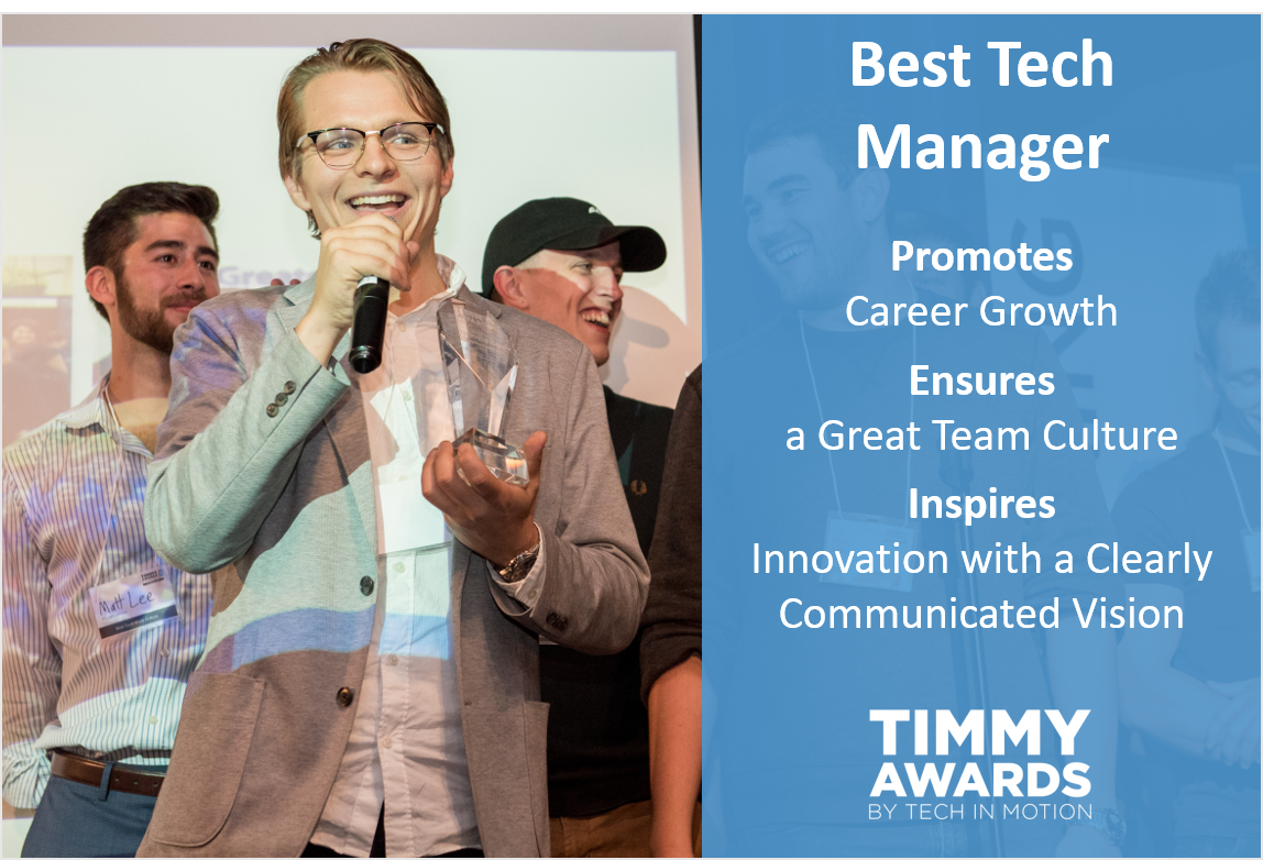 Timmy Award Best Tech Manager