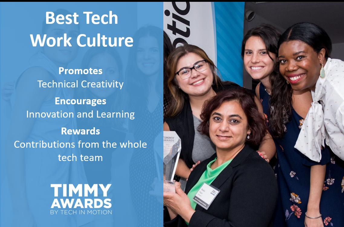 Timmy Award Best Tech Work Culture