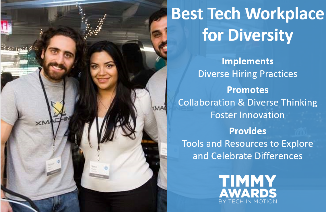 Timmy Award Best Tech Workplace for Diversity